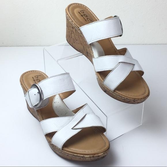 e72d4210c8 Born Shoes | Boc Concept White Spring Wedge Sandals 11 | Poshmark